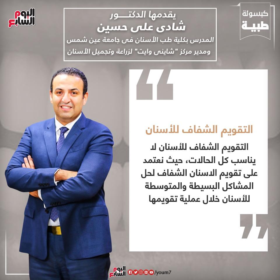 إنفوجراف دكتور شادى على حسين يوضح معلومة عن التقويم الشفاف