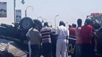 Photo of مصرع فتاة وإصابة 22 عاملا فى تصادم سيارتين بالإسماعيلية