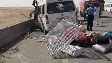 Photo of حادث  مروري مروع بالطريق الصحراوي الشرقي القديم بالمنيا